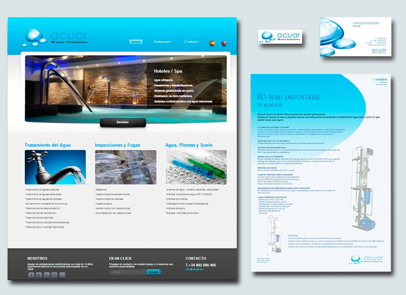 Proyecto Branding acuar Water Solutions - HDoble Creativos