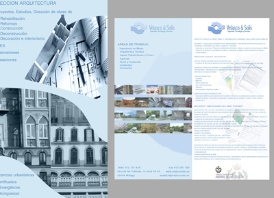 Proyecto Diseño Grafico Velasco & Solis, Roll-up arquitectura - HDoble Creativos